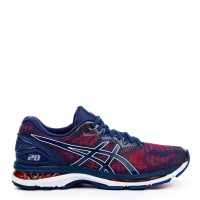 Sepatu Running Original Asics Gel Nimbus 20 - Indigo Blue/Fiery Red