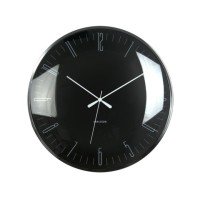 Karlsson Jam Dinding Wall clock Dragonfly black, Dome glass D.40cm