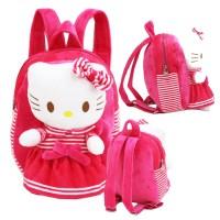 Tas Ransel Boneka Hello Kitty Bahan Halus Lembut - Pink