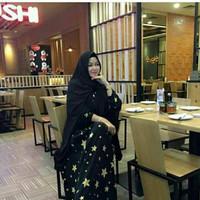 Dress star hitam-dress murah bagus premium
