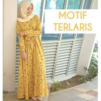 Dress Fatima mustard-gamis premium-gamis motif-gamis murah
