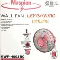 MASPION MWF-4001 RC Wall Fan / Kipas Angin Dinding (Remot)
