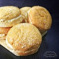 Roti Burger Wijen Enak dan Murah (6 pcs)