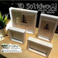 Frame Foto Kayu 3d Soliwood ( tanpa rongga ) 20x20
