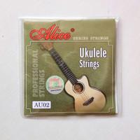 Senar ukulele Alice black nylon 1 set / senar nylon isi 4