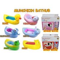 Inflatable Munchkin Bathtub Animal Bak Mandi Bayi Portable Disney
