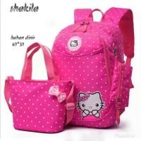 Tas sekolah Anak Waniya Cewek Perempuan Hello Kitty Set 3in1
