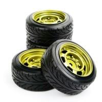 D05 RC Drift tires - ban RC velg 1:10 motif kaleng gold