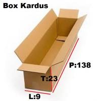 KARDUS BOX Panjang - utk lampu neon - 138x9x23 cm