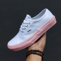 Vans authentic white Pink