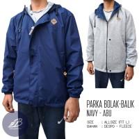 Jaket Parka Vans Pria Bolak-Balik Despo Fleece Navy Abu - BB Simple