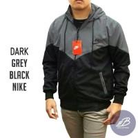Jaket Nike Windrunner Parasut Despo Abu Tua Hitam - Jaket Sport Hoodie