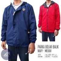 Jaket Parka Vans Pria Bolak-Balik Despo Fleece Navy Merah - BB Simple
