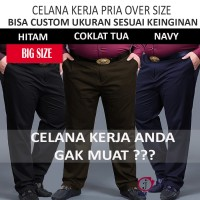 Celana Formal Pria Kerja Kantor Slimfit Big Size atau Costum Size
