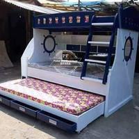 Tempat Tidur - Dipan Kamar Anak Jati Model Rumah/ Tingkat Free Ongkir