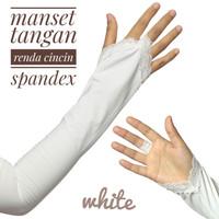 Manset tangan Spandex Renda Cincin