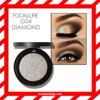 PROMO! FOCALLURE Glitter Eyeshadow G04 Diamond Silver Highlighter