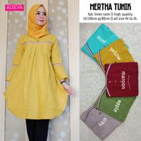 Baju Wanita Atasan Blouse Martha Tunik Bahan Linen Rami