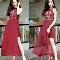 Del #NK Maroon Dress Queeni Premium