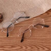 Kacamata Unisex Frame Metal Bulat Gaya Retro Vintage