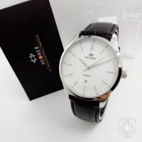 Jam Tangan Hegner HW 5001 K Black Silver Man Ori