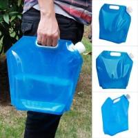 Jerigen Lipat Kantong Air Portabel 5 Liter Transparan
