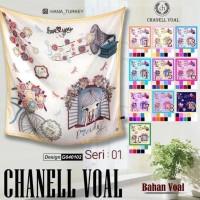 Sale Jilbab Segi Empat Motif Karakter / Motif Kartun - Seri : Chanel