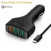 Aukey 4 Ports USB Qualcomm 3.0 Turbo Car Charger CC-T9 CAH114