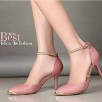 high heels 5cm salem Sepatu Wanita Murah afh