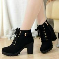 Sepatu Boot Heels Wanita Kuda Hitam afh
