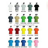 Size XL Warna - Kaos polos cotton combed 20s