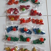 1 set bola bekel kecil dan biji plastik isi 10pc