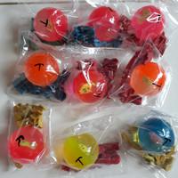 1 set bola bekel dan biji plastik isi 10pc