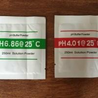 PH Buffer Bubuk Kalibrasi PH Meter Tester Asam Basa Set 2pc *LM04