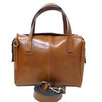 [L] Hand sling bag wanita kulit sapi asli coklat polos ori leather