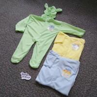 MKD37 Sleepsuit Bayi Tutup Kaki Arimbi Baju Kodok Piyama Baju Tidur