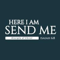 Kaos Distro Rohani Kristen - Here I am Send me