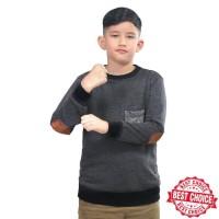 Jaket Sweater Sweter Switer Fleece Anak Laki-Laki Cowok Abu SKY 203 IL