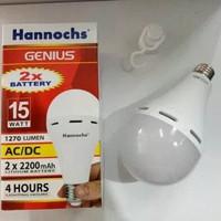 Lampu emergency genius 15 watt