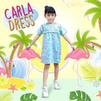 Dress Carla ECERAN gaun anak perempuan terusan katun kids fashion - Motif A, Size 2