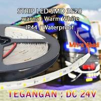 LED Strip Fleksibel SMD 3528 Warm White 3200K DC 24V IP44 WATERPROOF