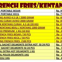Promo Kentang beku aviko -Kentang French Fries 4.5 Lb