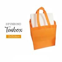 Per 12pc Tas Spunbond 22x22x26cm Tasbox Orange Goodiebag