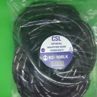 Spiral Perapi Pelindung Kabel KS-10 10M Hitam Premium