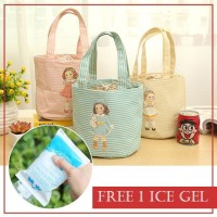 Iconic Insulated Lunch Bag Cooler GADIS KECIL -Tas Bekal Makan (GN84)
