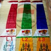 Bendera merah putih bandir atau layur 3 meter