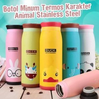 Termos Air Animal Karakter 500Ml - Botol Minum Motif Acak Best Quality