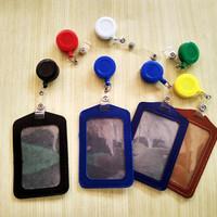 ID card Holder Kulit free Plus Yoyo clip