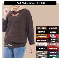 Baju Rajut Wanita Korea Roundhand Nanas Best Seller Sweater Murah