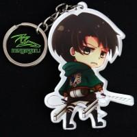 Gantungan Kunci Anime Levi Ackerman Attack on Titan Shingeki no Kyoji